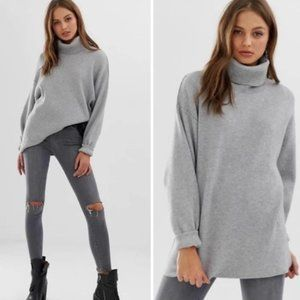 Free People Softly Structured Tunic in Gray XS